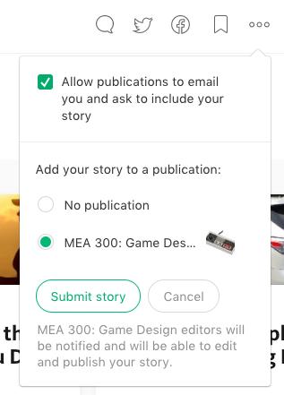 MEA 300 ~ Week 1 ~ Publishing on Medium